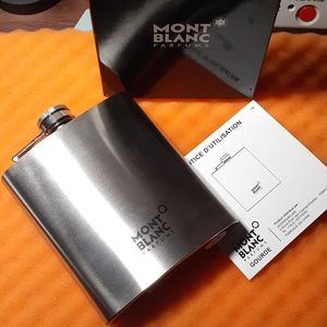 Mont Blanc Flask 7 oz stainless steel